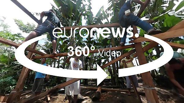 360 fokos videó: tájfunálló ház építése a Fülöp-szigeteken