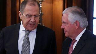 Reunión entre Serguéi Lavrov y Rex Tillerson para aclarar sus respectivas posiciones en el conflicto sirio.