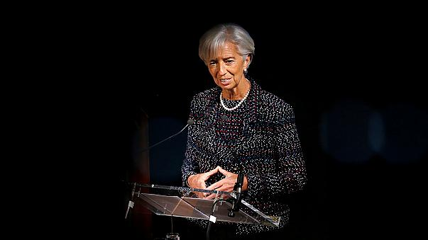IMF's Lagarde upbeat on growth, worried about protectionism risks