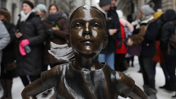 """Seeing red, sculptor of NYC's famous bull says """"Fearless Girl"""" tramples his rights"""