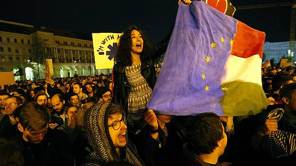 Hungarians protest at government moves to restrict NGOs
