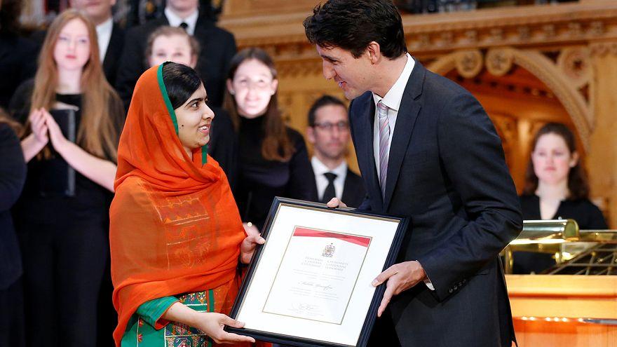 مالالا يوسفزاي تتسلم الجنسية الكندية الفخرية
