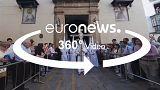 برگزاری آئین پنجشنبه مقدس در کلیسای جامع سبیا در اسپانیا