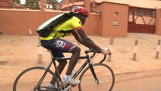 Kampala Cycling Club has a courier service that could pay it's way to the Olympics [no comment]