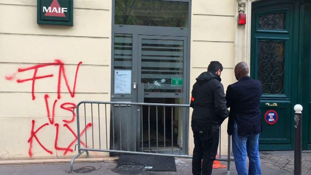 خرابکاری با هدف آتش زدن دفتر حزب جبهه ملی فرانسه