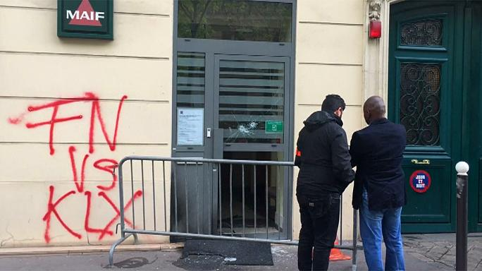 France: National Front Paris HQ hit by arson attack