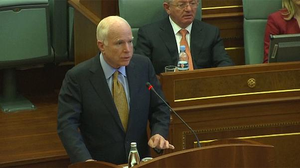 McCain and Gabriel urge Kosovo and Serbia to break impasse