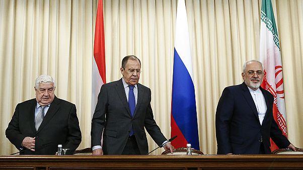 وزراء خارجية روسيا وإيران وسوريا يدينون قصف المقاتلات الأميريكية على قاعدة الشعيرات