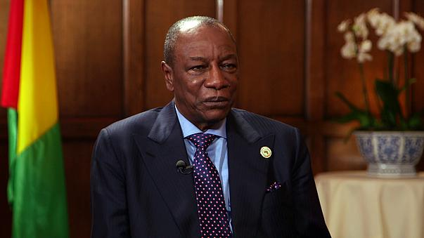 Ο Πρόεδρος της Γουινέας, Άλφα Κοντέ μιλά στο Euronews