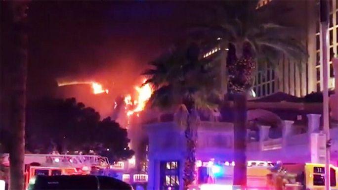 Las Vegas'taki ünlü Bellagio Oteli'nde yangın
