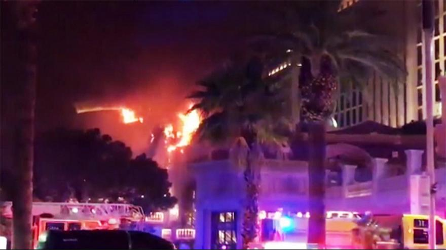 Las Vegas, incendio all'Hotel Bellagio