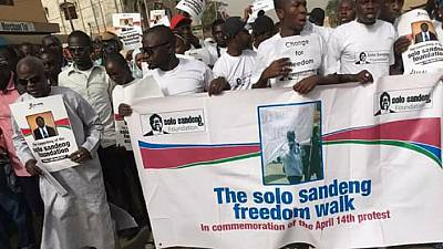 Gambian Minister leads 'Freedom Walk' for activist killed over electoral reforms