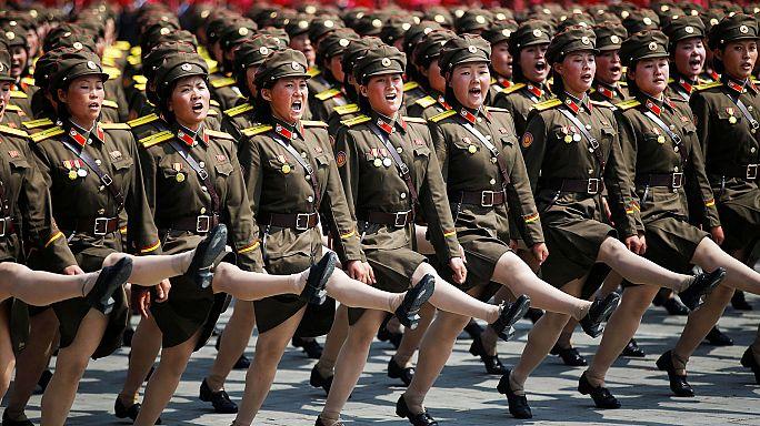 Nordkoreas Waffenschau am Feiertag