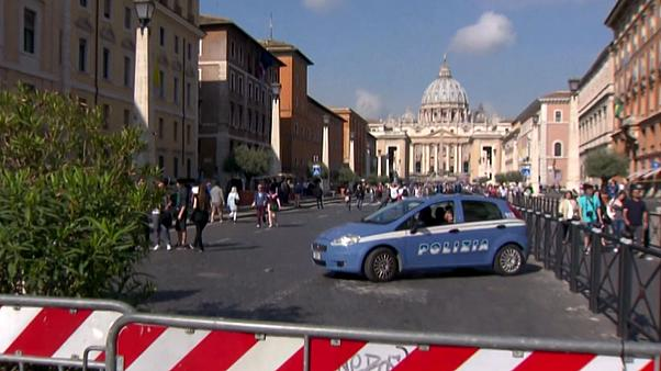 Sécurité renforcée à Rome à l'occasion des fêtes de Pâques