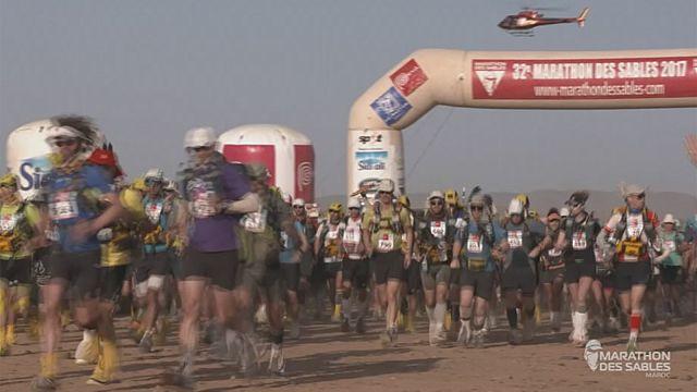 Сверхмарафон в песках в пятый раз выиграл Рашид Эль Морабити