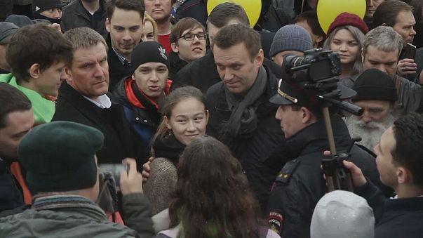 Alexey Navalny, il blogger anti-Putin, apre una sede del suo comitato per le presidenziali