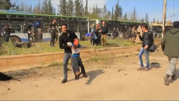 Viele Tote und Verletzte - darunter mehrere Kinder - durch Anschlag auf Busse bei Aleppo
