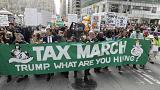 Trump urged to show his tax returns by protesters US-wide