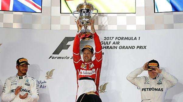 Vettel ganha avanço com vitória no Barém