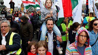 Macaristan'da soykırıma uğrayan Yahudiler anıldı