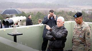 Visita del vicepresidente estadounidense a la zona desmilitarizada que separa las dos Coreas