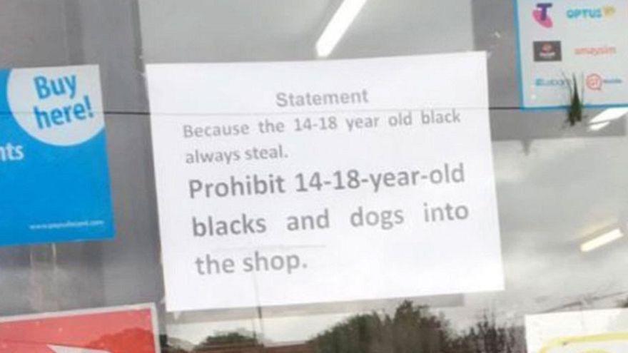 Melbourne shop owner bans blacks and dogs