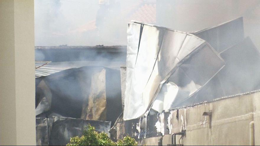 مقتل خمسة اشخاص في حادث تحطم طائرة شرق ليشبونة