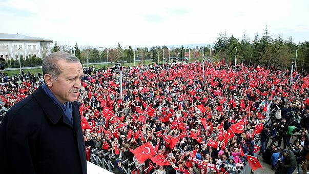 Flush with referendum win, crowd asks Erdogan for death penalty