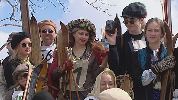 بولندا: مسابقة للتزلج على الطريقة القديمة