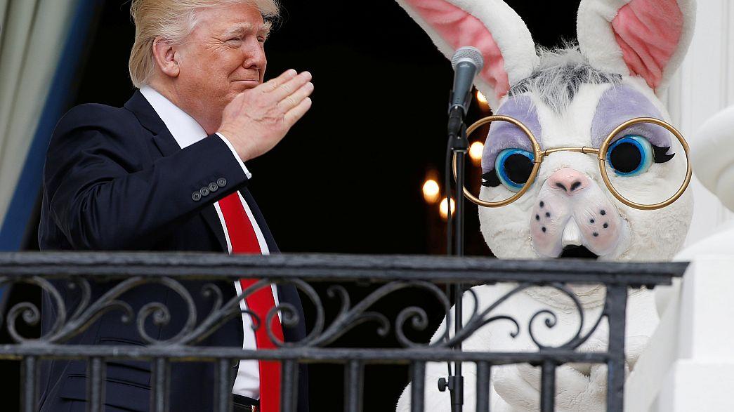 Trump leads Easter celebrations, as Melania makes White House appearance