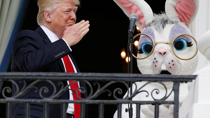Trump leads Easter celebrations, as Melania makes White House appearance