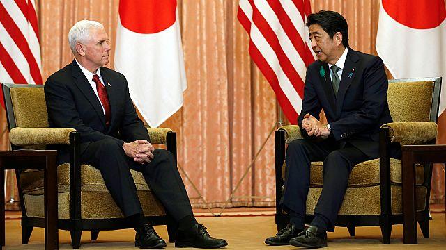 """Майкл Пенс в Японии: """"Мир достигается силой"""""""