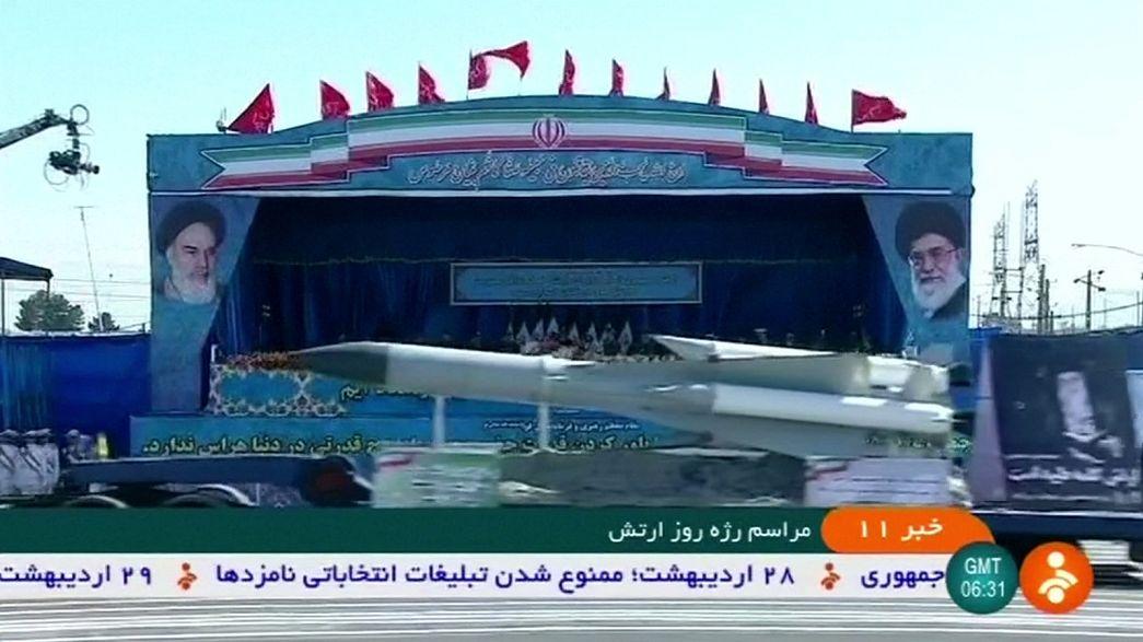 """إيران تستعرض قدراتها العسكرية بمناسبة """"يوم الجيش"""""""