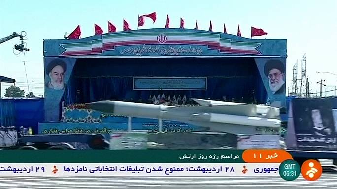 Desfile militar en Irán con motivo del Día del Ejército
