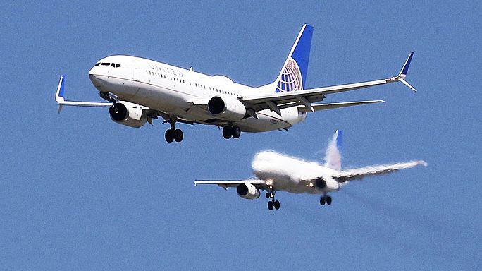Lucros da United Airlines afundam