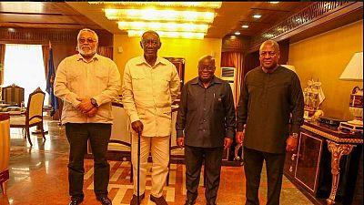 Ghana : rencontre au sommet entre le président Akufo-Addo et ses trois prédécesseurs