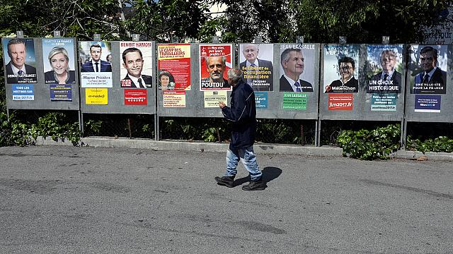 French presidential election posters reinvented