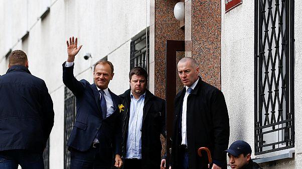 دونالد توسک به عنوان شاهد در دادگاهی در لهستان حضور یافت