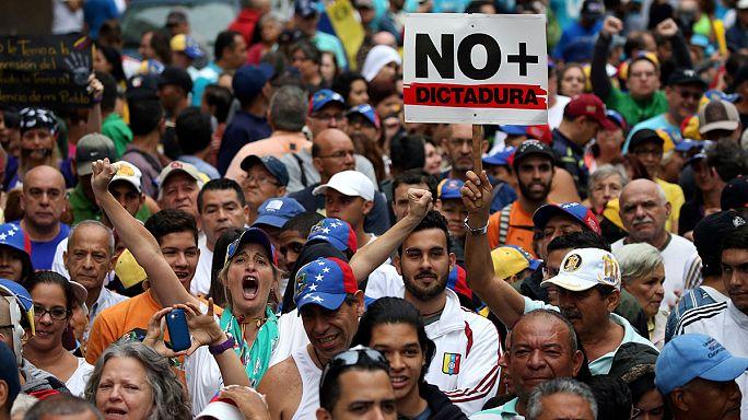 Марши протеста в Венесуэле против властей