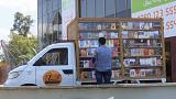 Meet the Baghdad man who turned his van into a mobile bookshop