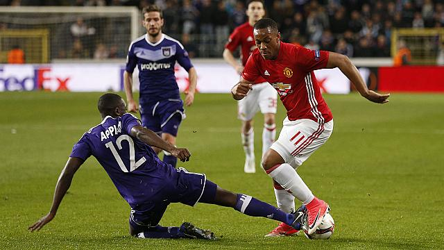Manchester United take on Anderlecht in the Europa League quarter-finals