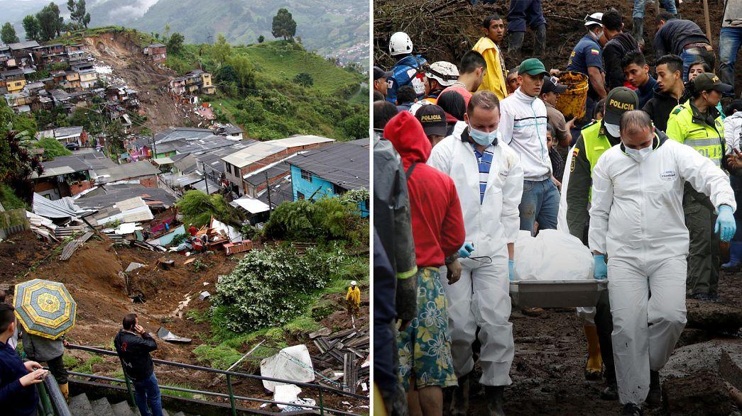رانش زمین جان ۱۱ نفر را در کلمبیا گرفت