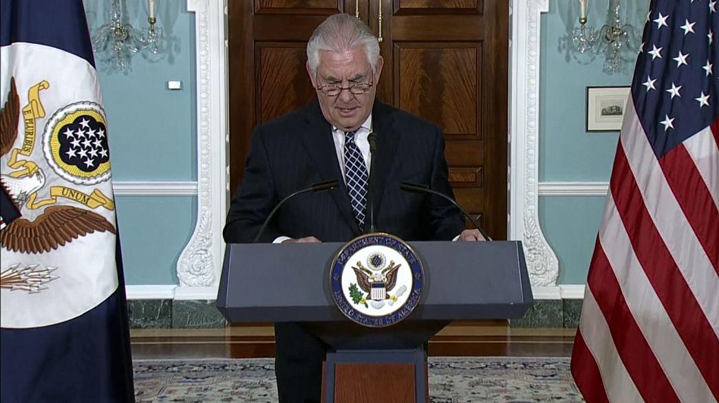 تیلرسون: آمریکا در حال بازنگری جامع سیاست خود در قبال ایران است