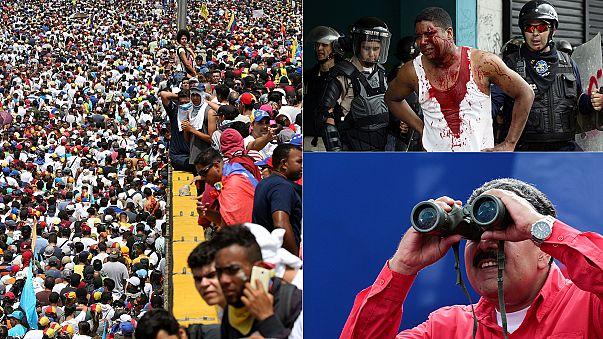 Violence en marge des manifestations monstres contre le président vénézuélien