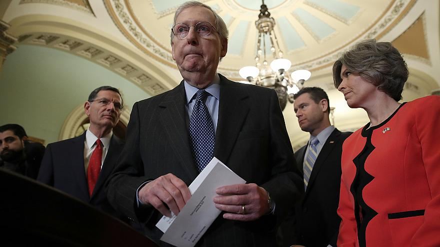 Image: Mitch McConnel, Senate Lawmakers Address The Media After Their Weekl