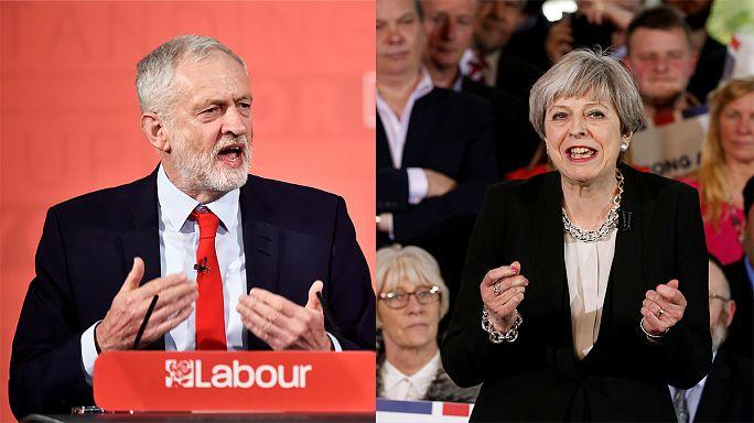 جرمی کوربین و ترزا می کارزار انتخاباتی زودهنگام بریتانیا را کلید زدند