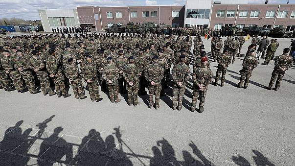 NATO builds up military forces in Baltic region