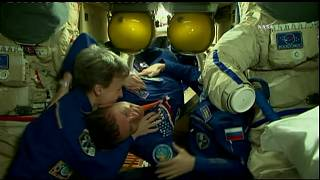 Warm greetings for new International Space Station crew