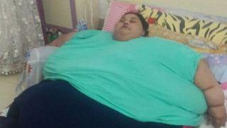 Inde : l'Égyptienne de 500 kilos a perdu la moitié de son poids