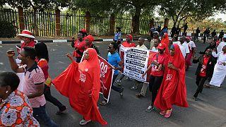 Protestation des parents des lycéennes de Chibok à Abuja